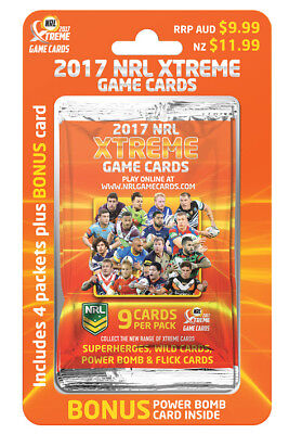 NRL 2017 Xtreme Game Cards Starter Pack