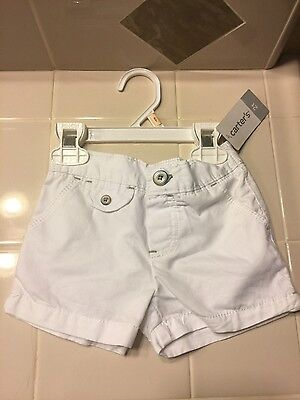 Girls Carter's White Shorts Sz. 2T one button