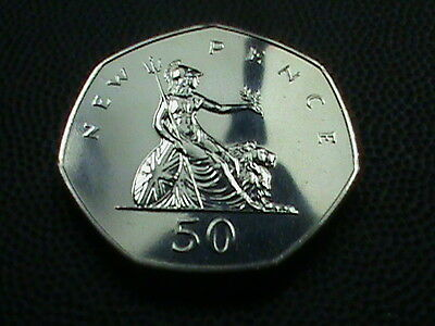 GREAT  BRITAIN    50  Pence    1971    PROOF