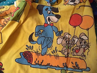 Vintage Hanna Barbera Huckleberry Hound Pixie & Dixie Twin Fitted Sheet