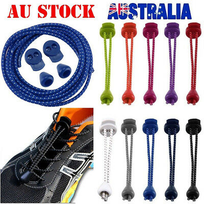 New Elastic Shoe Lace Jogging Triathlon Trainer Sports Shoelaces Laces With Lock