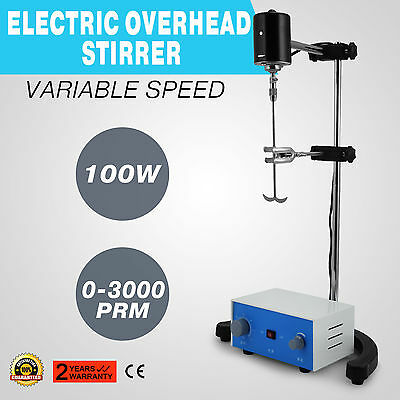 Electric Overhead Stirrer Mixer Stainless Steel Ptfe Shaft Variable Speed Hot