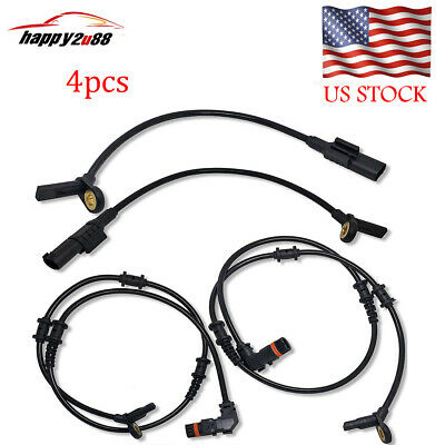 SET(4pcs) Front Rear ABS Wheel Speed Sensor For Mercedes-Benz W164 ML350 ML320