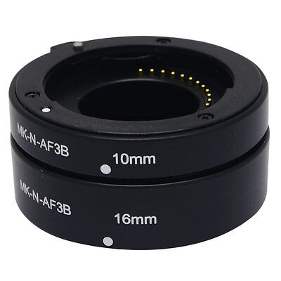 UK Meike N-AF3-B Auto Macro Focus AF Extension Tube Set Ring Adapter for Nikon