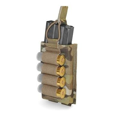 ELITE OPS SINGLE MOLLE OPEN MAG POUCH SUIT 5.56mm WITH SHOTGUN STRIP SHINGLE