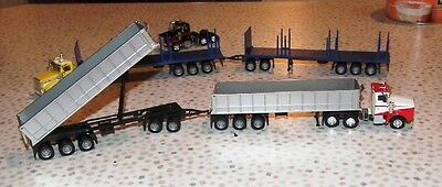 ROAD TRAIN KENWORTH 1 Truck 2 36' Tipper Trailers 1 Dolly HO 1/87 Scale Promotex