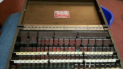 Starrett gauge block set
