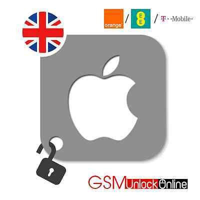 Factory Unlocking Service For iPhone 4 4S 5 5S 5C 6 6+ 6S 6S+ Orange EE T-mobile