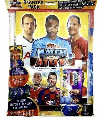 2016/17 Topps MATCH ATTAX EXTRA EPL Starter Pack Album Binder + De Bruyne GOLD