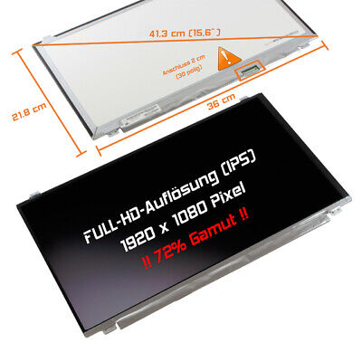 "Premium IPS 15,6"" LED Full HD Display 1980x1020 matt Fujitsu Lifebook E554 E556"