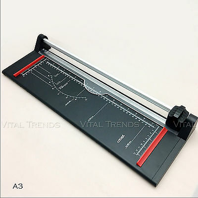 A3 Precision Photo Paper Guillotine Cutter Trimmer Home Office Arts Cutting Tool