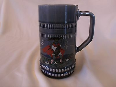 Irish Porcelain Made Tankard Depiction / Description Of Finn MacCoul 6.5""