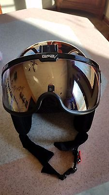 OSBE Integrated ski helmet w/ built in goggles PERFECT
