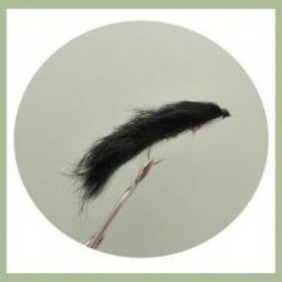 Snake Trout Flies, 4 Pack Black Snake, Size 10, Rear Hook, Fly Fishing