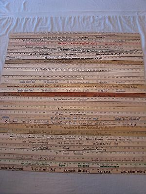 32 Yardstick Wood Wooden Ruler Lot Advertising Sign Color Art Craft Hobby