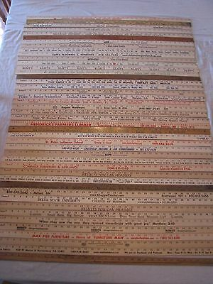 44 Yardstick Wood Wooden Ruler Lot Advertising Sign Color Art Craft Hobby