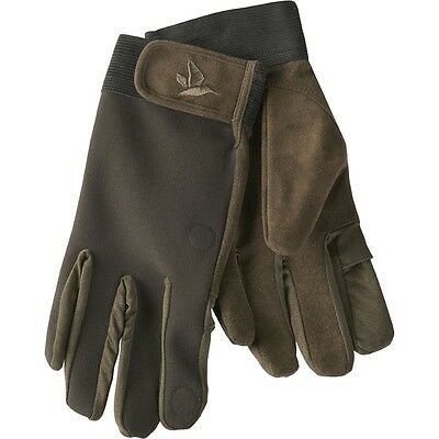 Seeland Winster Softshell Shooting Gloves Black Coffee Clay Pigeon Shooting