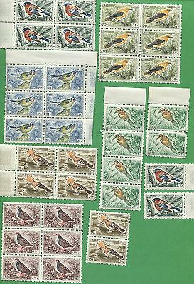 6 Sets of 1965 Lebanon Stamps 434 - 439 Cat Val $468 Native Wild Tropical Birds