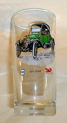 Vintage Barware Glass Pure Oil Company Advertising Buick Original 1964