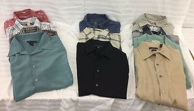 Lot Of 11 Men's Casual Shirts American Eagle, Timberland, Banana Republic, Sz L