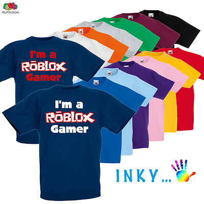 Childrens Roblox gamer t shirt boys/girls online gaming wii xbox ps4