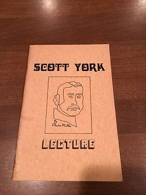 Lecture - Scott York / Scotty York - magic booklet