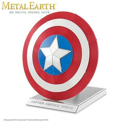 Fascinations Metal Earth Captain America Shield Marvel Laser Cut 3D Model
