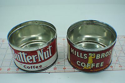 Advertising Lot 2 Vintage butter nut,hills bros. ,tin Coffee Cans