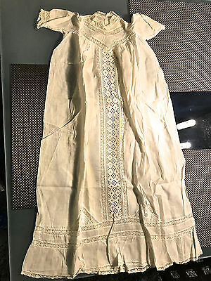 Antique Baby Christening Gown Lace with Under Slip 1903 Manhattan NY
