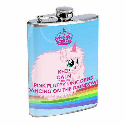 Unicorns D8 Flask 8oz Stainless Steel Hip Drinking Whiskey Mythical Creature