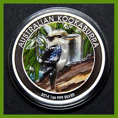 2014 Kookaburra 1oz. silver coin 'Colorized' (Population of 100)
