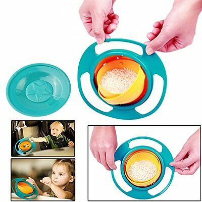 toyofmine Non Spill Feeding Toddler Gyro Bowl 360 Rotating Baby Kids Avoid Food