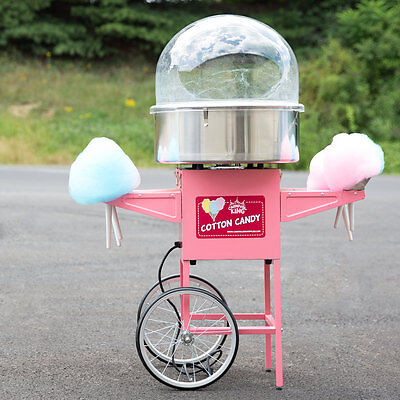 Carnival King Electric Commercial Cotton Candy Machine Maker Concession Cart