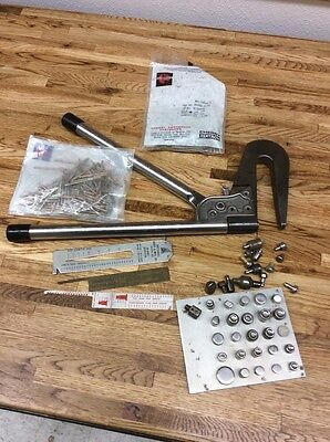 "TATCO 4"" Hand Rivet Squeezer Tool And Extras for Solid or Semi-Tubular Rivets"