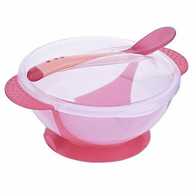Yunt Slip Resistant Suction Baby Feeding Sucker Bowls and Spoons Set with
