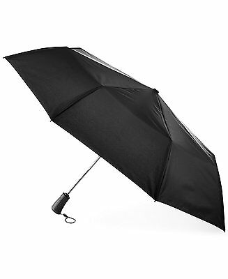 $99 Totes Titan Black Auto Open Close Neverwet Compact Windproof 70Mph Umbrella