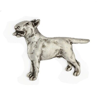 Bull Terrier, silver covered pin, high qauality Art Dog CA