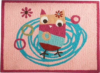 Zutano Owls Rug, Pink (Discontinued by Manufacturer)