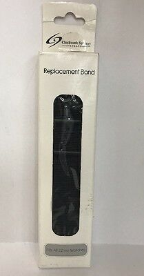 Clockwork Synergy Straps Replacement Premium PVD Nylon Band 22mm BLACK NEW!