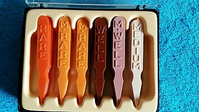 A1 Steak Sauce Premium Doneness Picks Barbecue Grill Markers Set In Acrylic Box