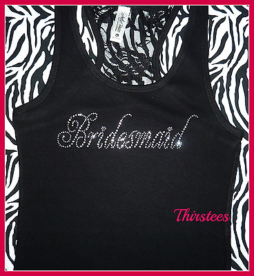 NEW READY TO SHIP Size LARGE lace bridesmaid tank top bachelorette party