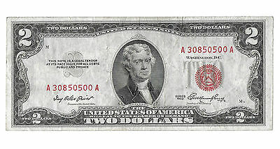 1953 $2 Legal Tender Red Seal Note! Fr. 1509