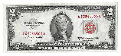 1953B $2 Red Seal United States Note! Excellent condition! Fr.1511