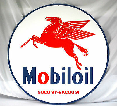 """Mobiloil 36"""" Tin Sign New in Box - Free Shipping"""