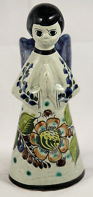 Vintage Mexican Ceramic/Clay Angel Candle Holder Folk Art Hand Made Collectible