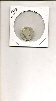 "1901-S 90% Silver Liberty ""Barber"" Head Dime Coin!"