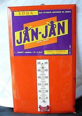 Vintage Jan-Jan Soda Advertising Thermometer Needs A New Tube Thermometer