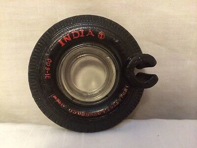 India Tire & Rubber Co Tire Ashtray