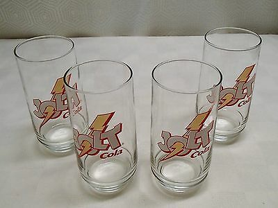 Set of 4 Jolt Cola Tumbler Style Glasses, Ships Free! Make Offer!