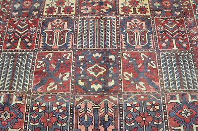 7'1 x 9'9 Authentic Antique Persian Garden Panel Bakhtiari Hand Knotted Wool Rug